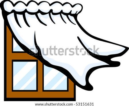 window with curtain drapes