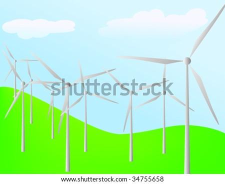 windpower - stock vector
