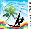 windsurfing - stock vector