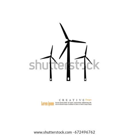 Windturbine Iconvector Illustration Stock Vector 672496762 ...
