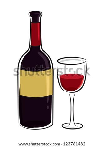 wine - stock vector