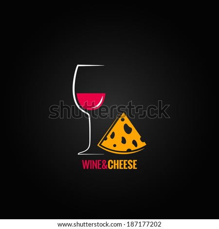 wine and cheese design background - stock vector