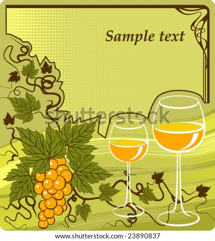 Wine background - stock vector