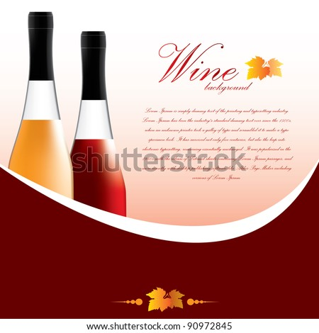 Wine Backgrounds - stock vector