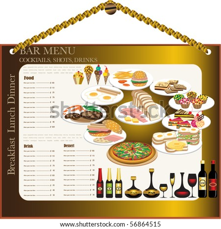 A  Pages Menu Template Italian Stock Photo   Shutterstock