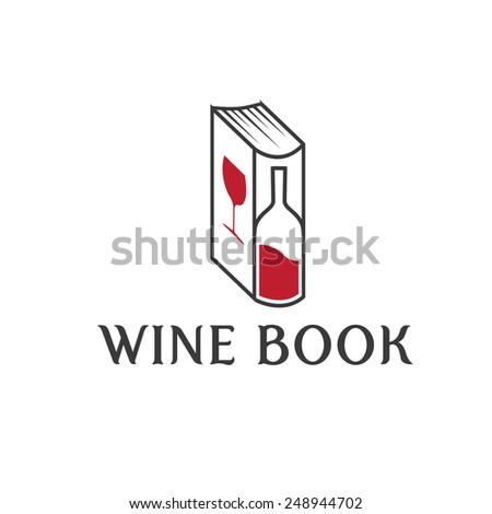 wine book vector design template - stock vector