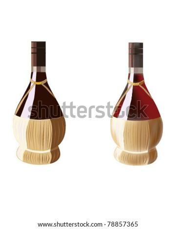 Wine Bottle - stock vector