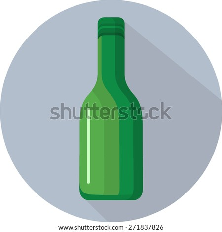 Wine Bottle Icon. Vector - stock vector