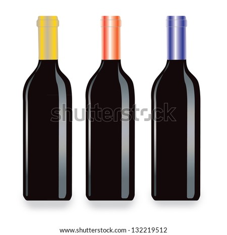 Wine bottles vector artwork