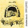 wine cellar - stock vector