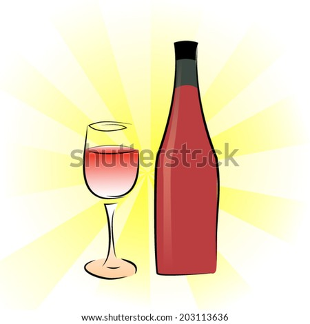 wine design over yellow background vector illustration.