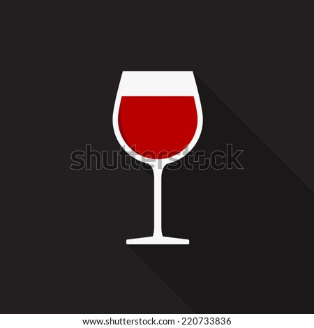 Wine glass icon - Vector - stock vector