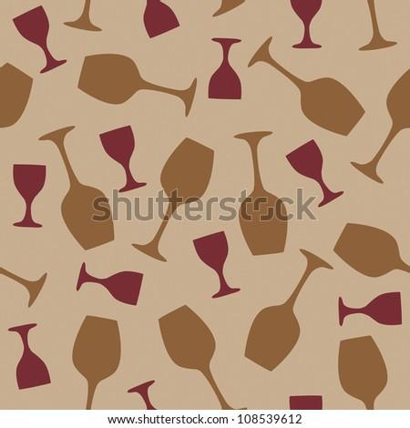 Wine glass pab bar design seamless vector illustration - stock vector