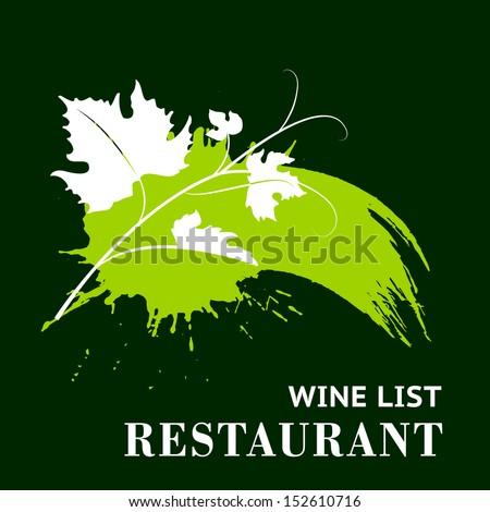 Wine grunge background. Vector illustration. - stock vector