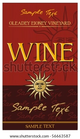 wine label design - stock vector