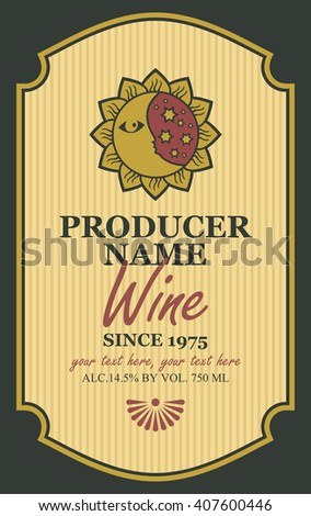 Wine Label Design Stock Images, Royalty-Free Images & Vectors