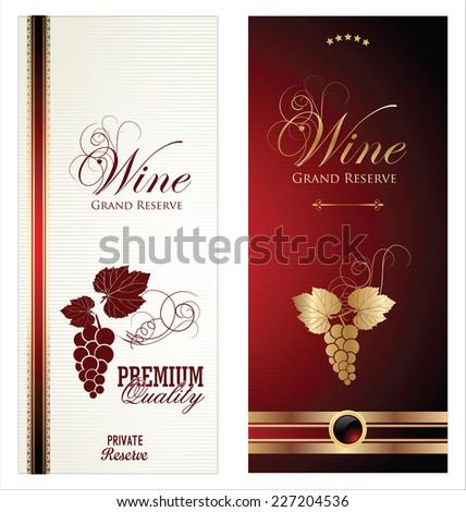 Wine labels - stock vector