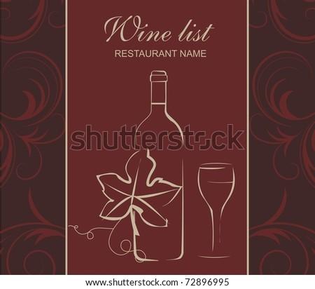 Wine list - stock vector
