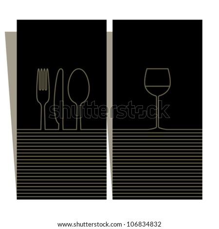 Wine list and menu design - stock vector