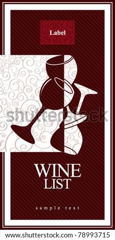 Wine list design - stock vector