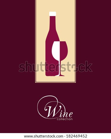 Wine list design for wine shops, restaurants and bars. Vector illustration.