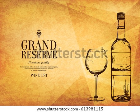wine list design vector brochure template stock vector 613981115 shutterstock