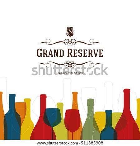 wine list design vector brochure template for winery cafe restaurant bar