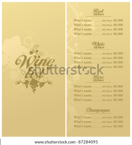 wine dinner menu template - stock images royalty free images vectors shutterstock