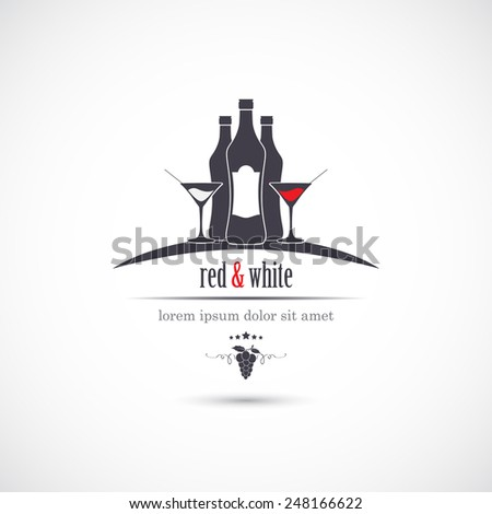 Wine list. Template for restaurant menu. Vector - stock vector