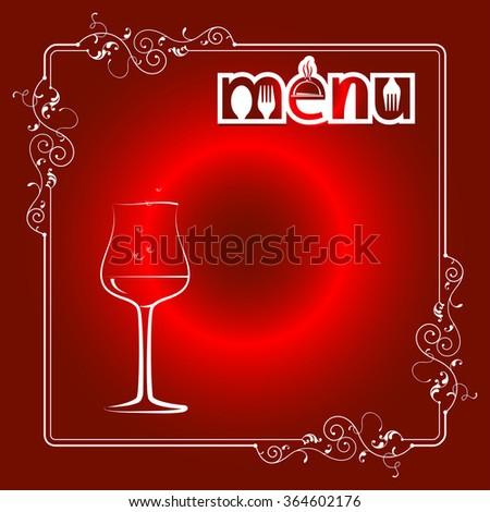 Wine Menu Card Design Template Vector Illustration - stock vector