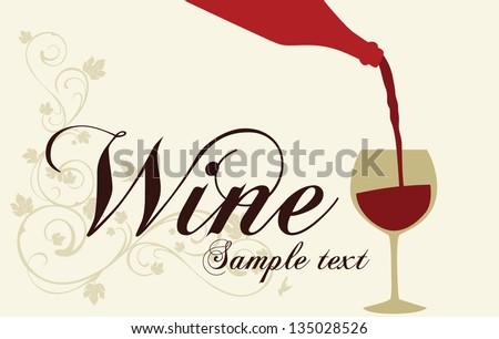 Wine. Sample text - stock vector