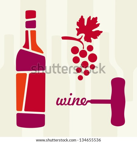 wine theme vector illustration - stock vector