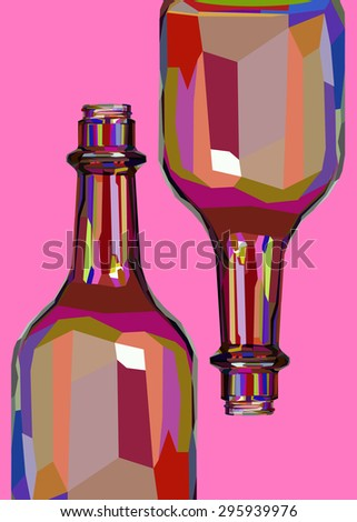 wine white glass design shadows liquid alcohol