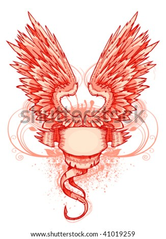 wing and frame - stock vector