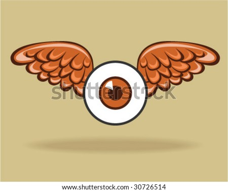 Winged Eye - Vector Illustration - stock vector