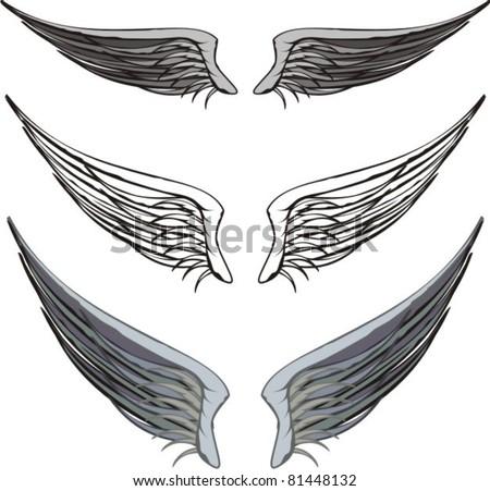 wings - stock vector