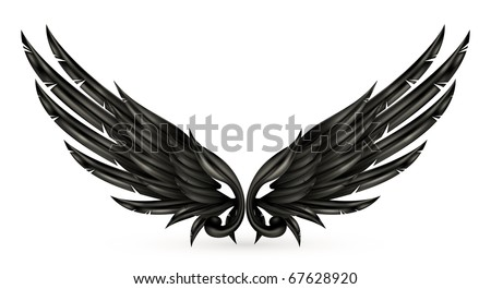 Wings black, eps10 - stock vector