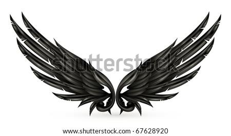 Wings black, eps10 - stock vector