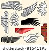 wings collection - stock vector