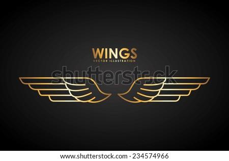 wings design , vector illustration - stock vector