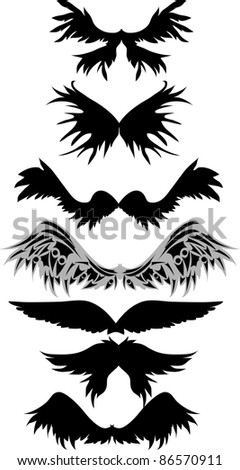 wings vector - stock vector