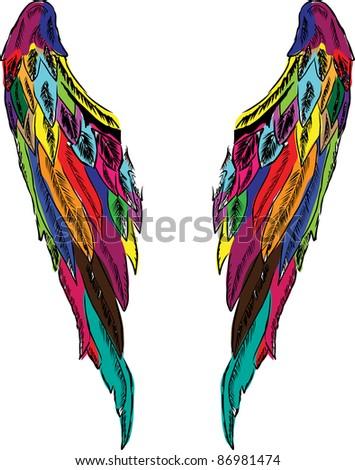 wings vector - stock vector