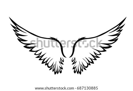 wings vector illustration on white background stock vector hd rh shutterstock com vector windows reviews vector windows fergus falls