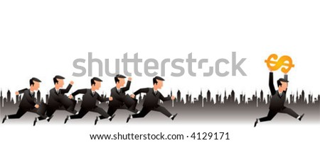 wining in business - stock vector
