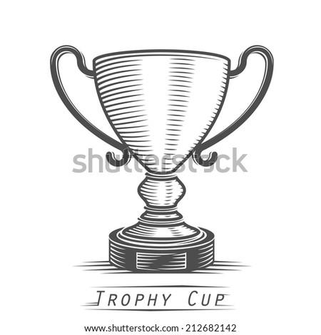 Winner cup vintage tattoo. Vector illustration - stock vector