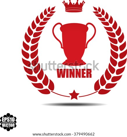 Winner, Label, Sticker or Icon Isolated on White Background.Vector - stock vector