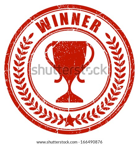 Winner laurel stamp - stock vector