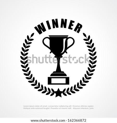Winner retro emblem - stock vector