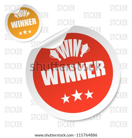 winner stick - stock vector