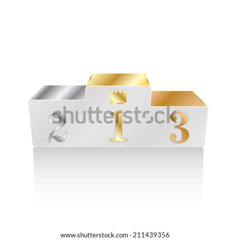 Winners podium isolated on white background, vector illustration - stock vector